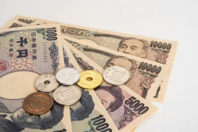paper money and coins from japan