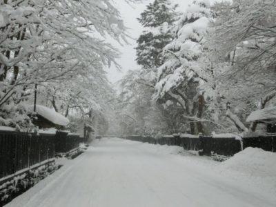 Bukeyashiki in winter, Kakunodate, Akita, Japan