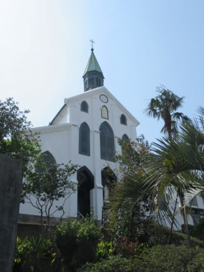 Front of Oura Church in Nagasaki