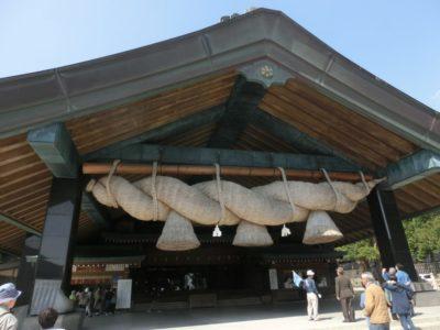 Largest shimenawa rope in the Izumo Taisha shrine in Shimane, Japan