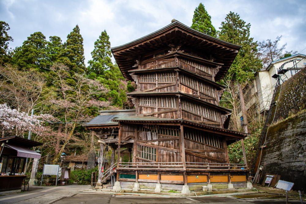 Sazaedo pagoda, Aizuwakamatsu, Fukushima, Japan