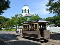 Old street car in Sapporo, Hokkaido, Japan