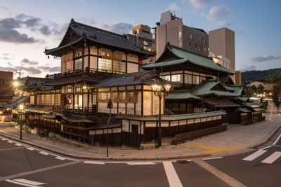 Traditional building of the Matsuyama Dogo onsen