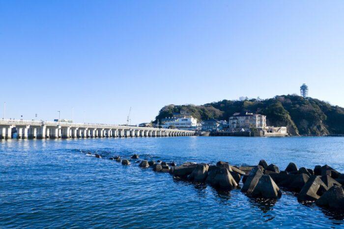 Enoshima Island in Kamakura, Japan
