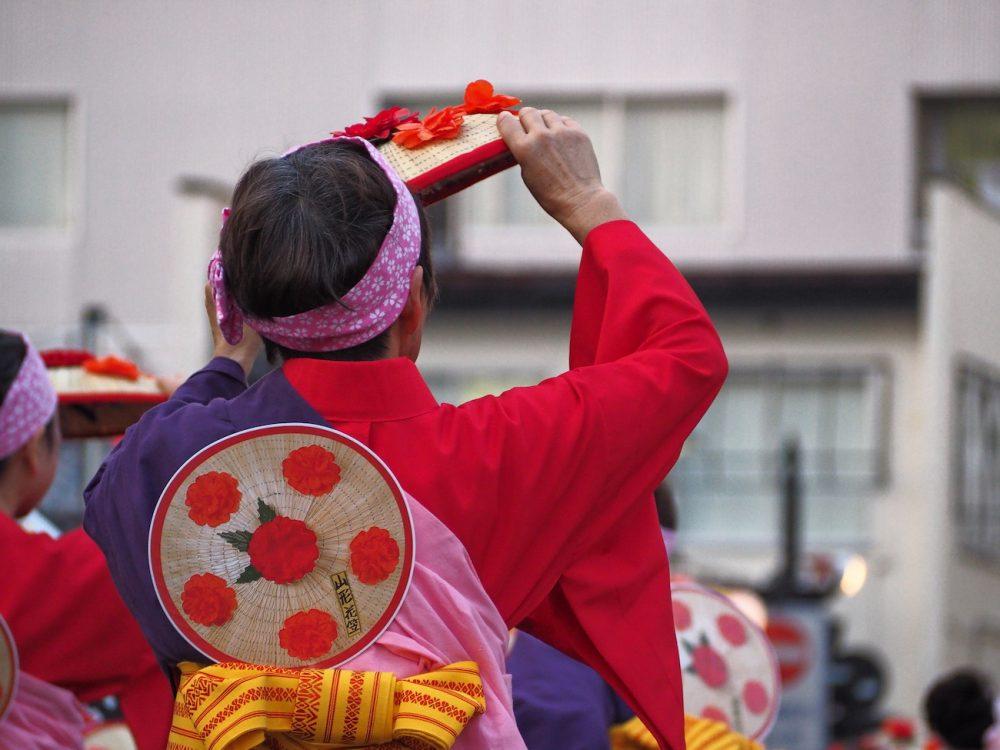 Hanagasa Festival in Yamagata, Japan