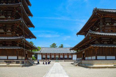 Horyuji temple in Nara, Japan