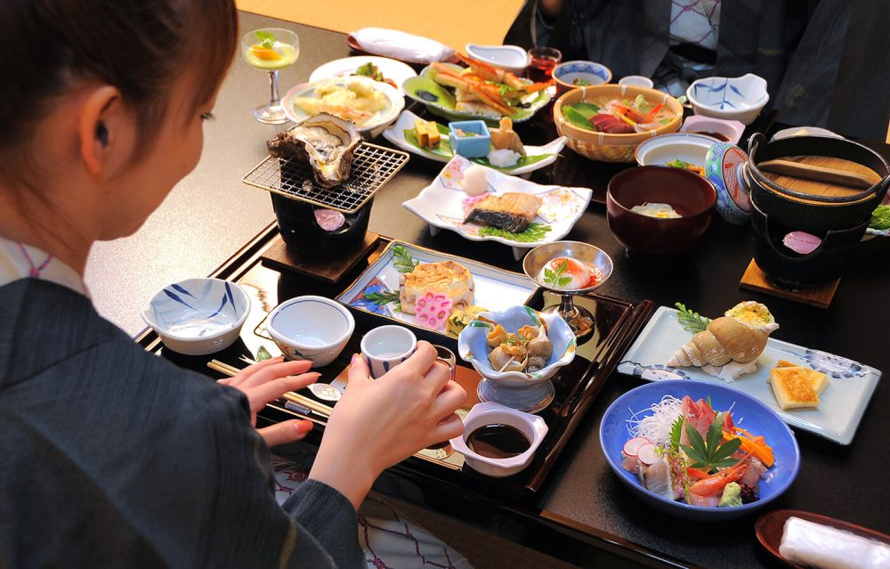 A Kaiseki Ryori meal in Japan