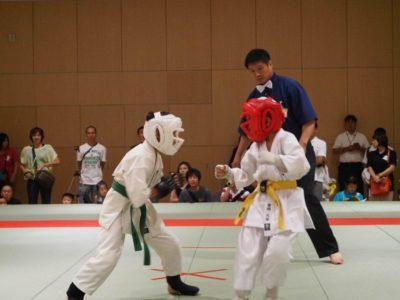 Kids doing karate in Japan