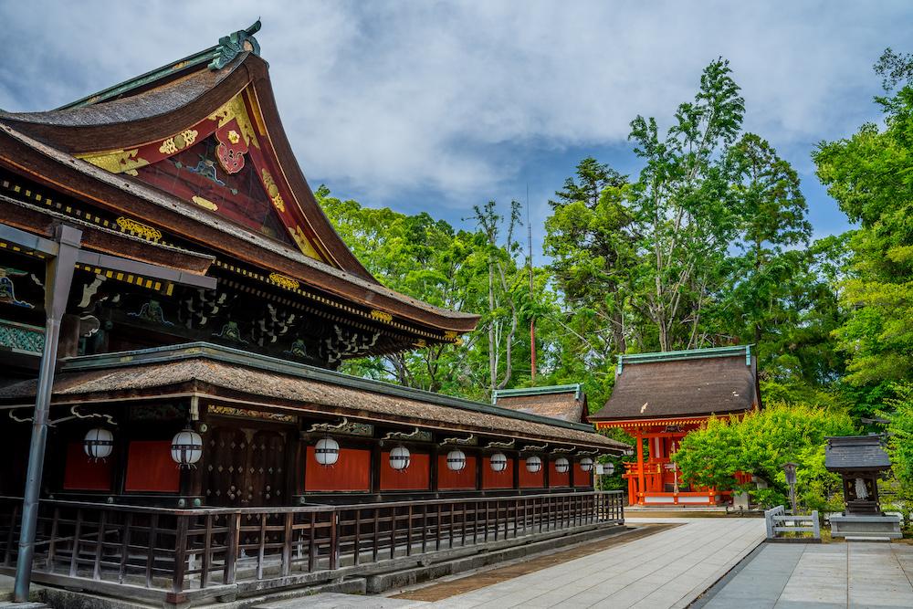 Kitano Tenmangu shrine in Kyoto, Japan