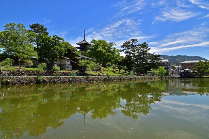 Kofukuji temple in Nara, Japan