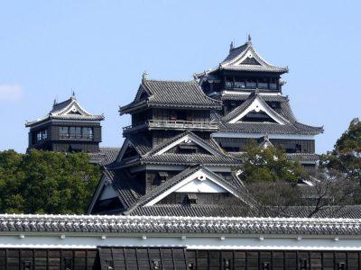 Kumamoto Castle in Kyushu, Japan