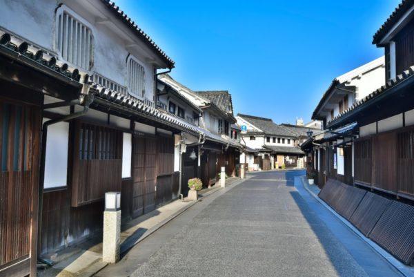 Traditional street in Kurashiki, Okayama, Japan