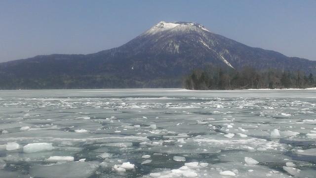 Frozen Lake Akan in Hokkaido, Japan