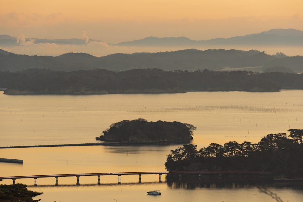 The bay of Matsushima in Miyagi, Japan