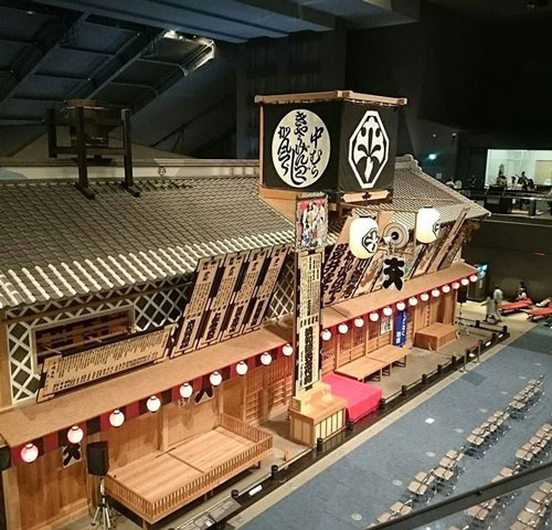 Inside of the Edo Tokyo Museum in Japan