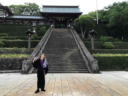 Entrance to the Suwa shrine in Nagasaki, Japan