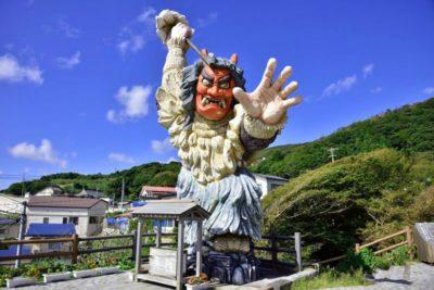 Scary statue on Oga Peninsula, Akita, Japan