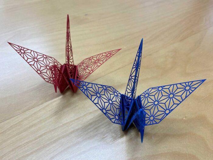 Beautiful origami cranes in Japan