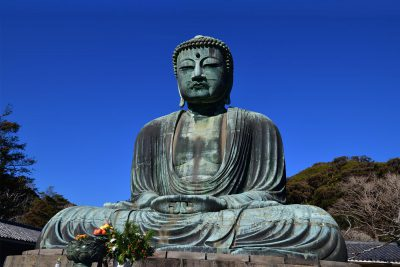 Daibutsu Big Buddha statue of the Kotokuin temple in Kamakura, Japan