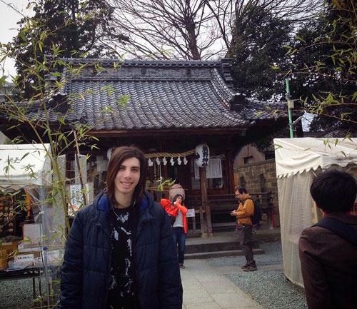 Front gate of the Kumano Shrine in Kawagoe, Saitama, Japan