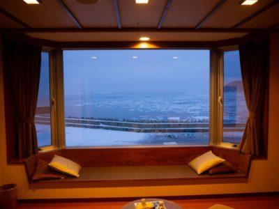 A wintry view in Shiretoko, Hokkaido, Japan