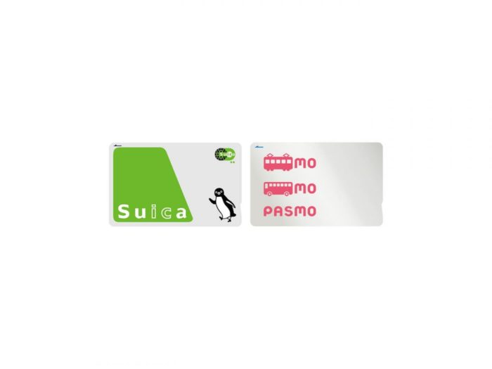 The Suica (green) and Pasmo (pink) cards in Japan