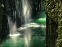 Waterfalls in the takachiho gorge in Kyushu, Japan