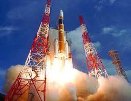 Rocket launch on Tanegashima in Kyushu, Japan