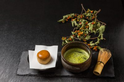 Traditional beauty green tea of Japan