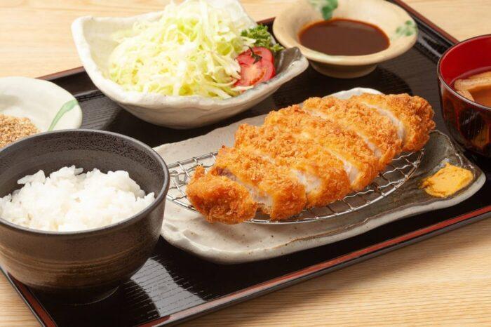 Tonkatsu, a Japanese pork dish
