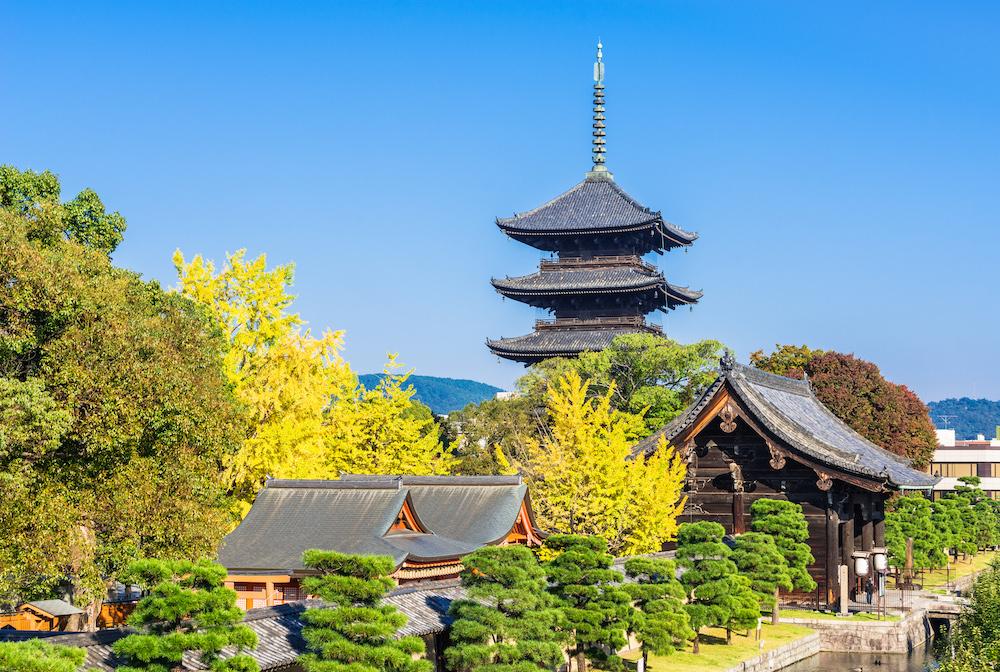 Pagoda of the Toji temple in Kyoto, Japan