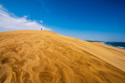 A large sandy dune in Tottori, Japan