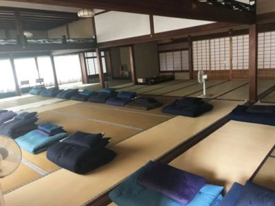 A meditation space in a zen temple in Japan