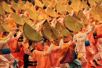 Awaodori traditional dance festival in Tokushima, Japan