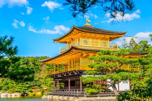 Kyoto Golden Pavillion in summer