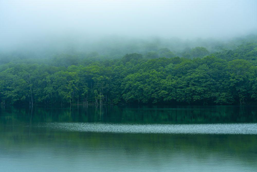 Mist on Towada Lake in Aomori, Japan