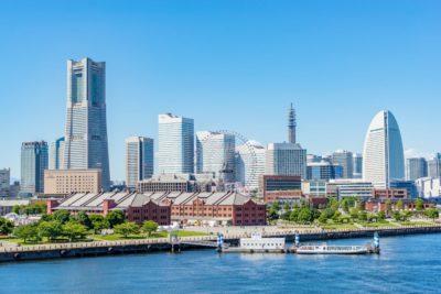 Yokohama city view from the water