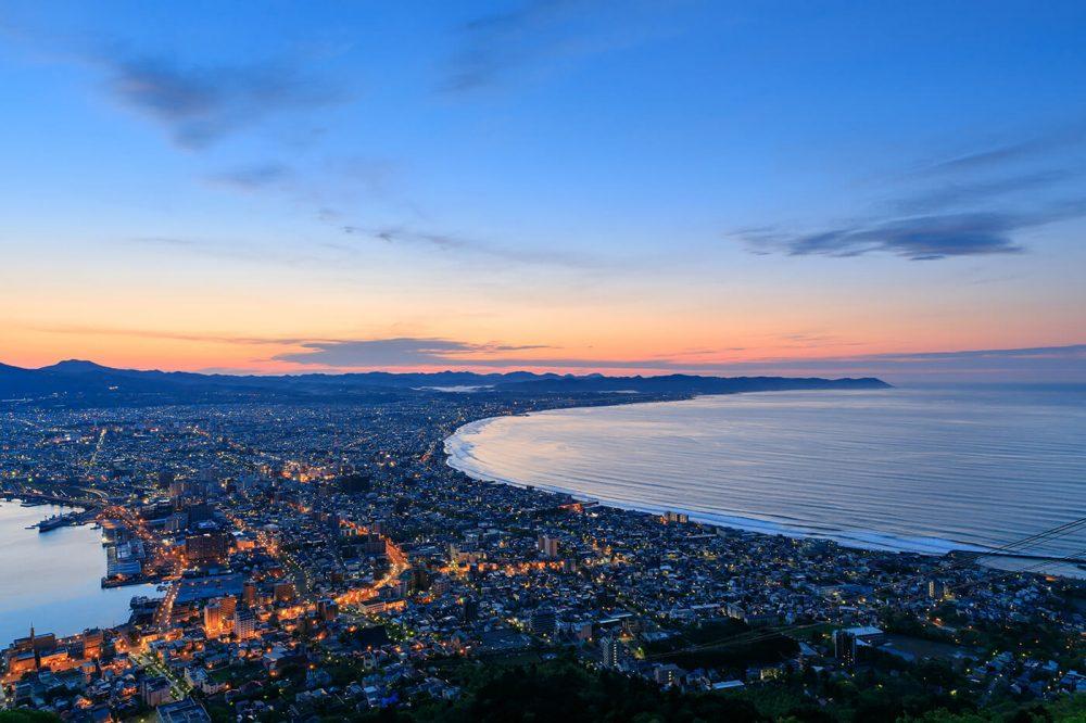 Aerial view of Hakodate, Hokkaido, Japan