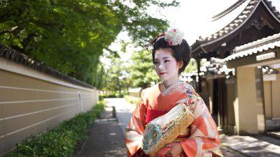 Maiko girl in Kyoto, Japan