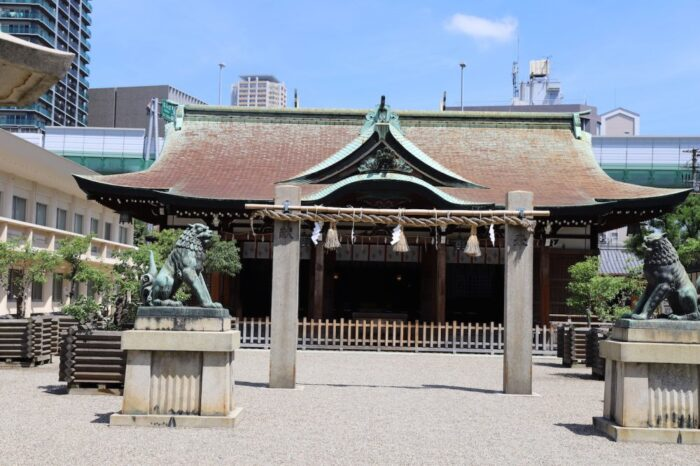 Imamiya Ebisu Shrine in Osaka, Japan