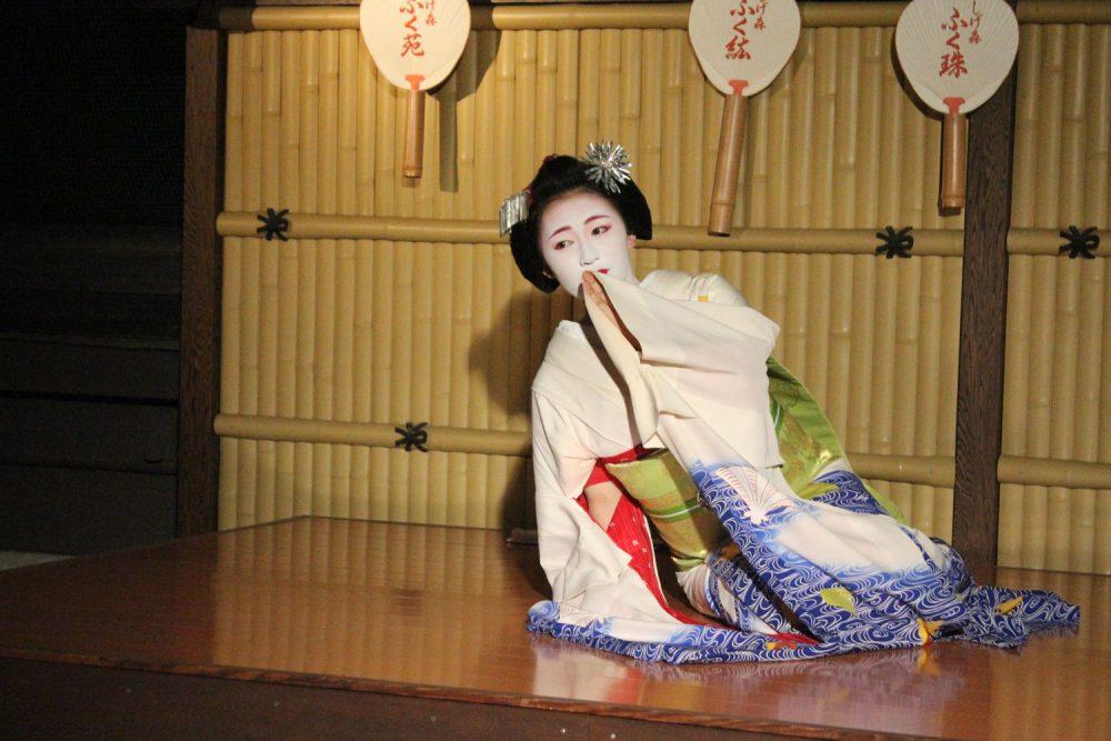Geisha performing in Gion Corner, Kyoto, Japan