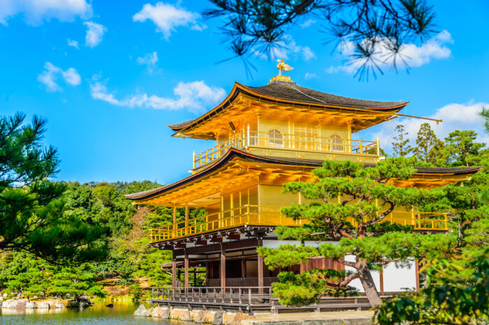 Kinkakuji Golden Pavillion in Kyoto, Japan