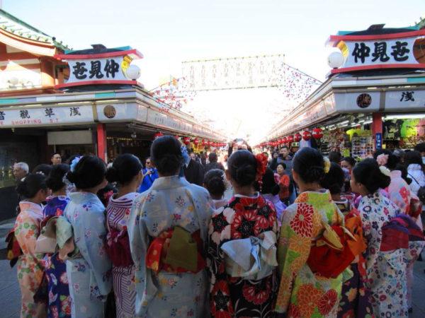 Kimono ladies in Asakusa