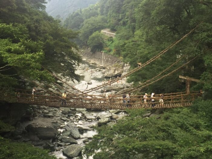Vine bridge in the Iya Valley of Shikoku, Japan