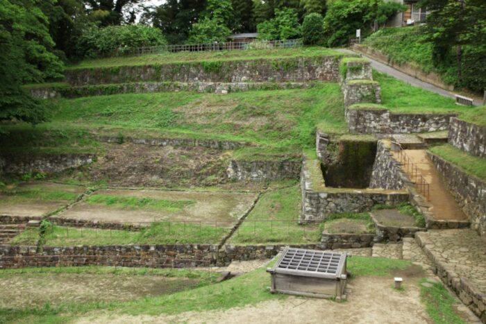 Kanayama Castle ruins in Gunma, Japan