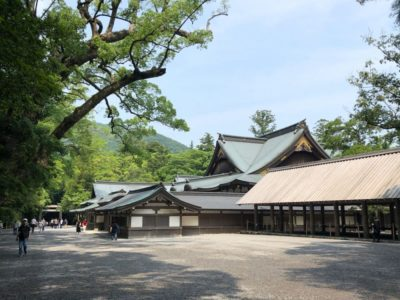 Main building of the Ise Jingu Shinto shrine in Japan