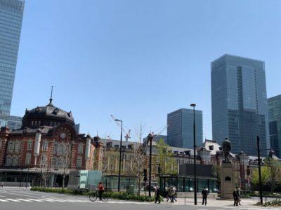 Front of Tokyo Station in Japan