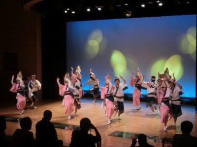 Awaodori festival dance in the Awadori Kaikan museum, Tokushima, Shikoku, Japan