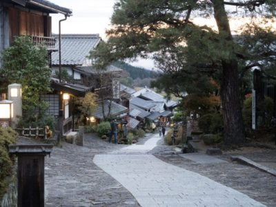 Traditional road in post town Magome in Gifu, Japan