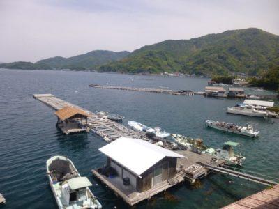 Pearl farms in Uwajima, Shikoku, Japan